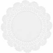 "White Cambridge Lace Doily - 12"" 4,000 ct."
