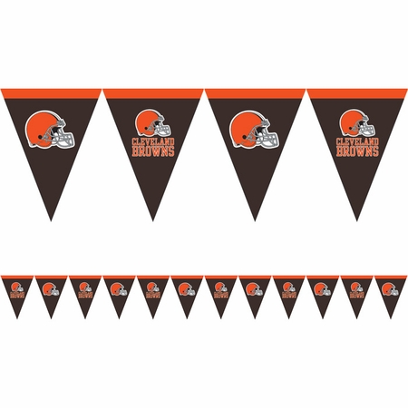 Orange and brown Cleveland Browns Flag Banners are sold 1 / pkg, 12 pkgs / case