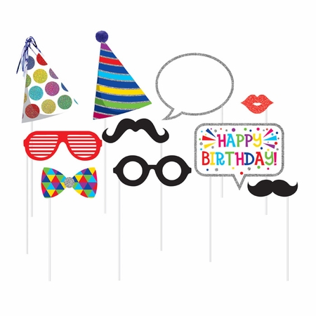 Birthday Photo Booth Props 60 ct