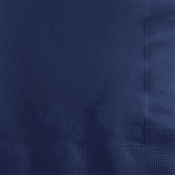 Touch of Color Navy 2 ply Beverage Napkins in quantities of 50 / pkg, 12 pkg / case