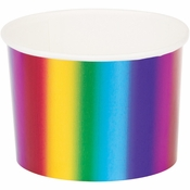 Rainbow Foil Treat Cups 72 ct