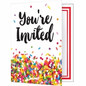 Confetti Sprinkles Invitations 48 ct