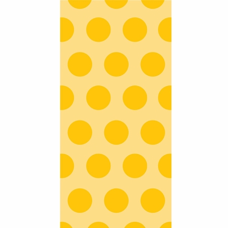 School Bus Yellow Polka Dot Favor Bags 240 ct