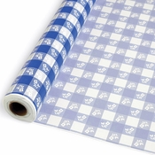 Blue Gingham Banquet Rolls 6 ct