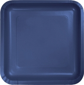 Touch of Color Navy Square Dinner Plates in quantities of 18 / pkg, 10 pkgs / case