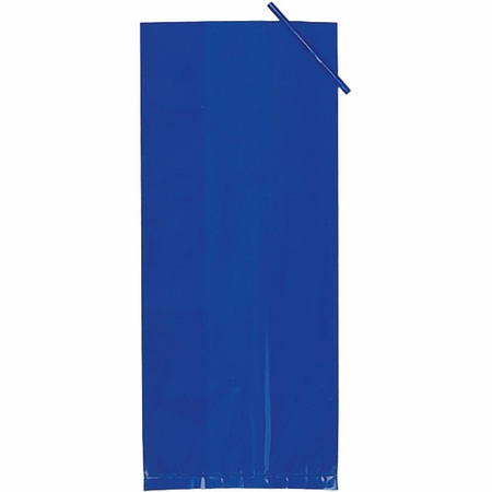 Blue Large Cello Treat Bags measure 11.25 inches x 5 inches and are sold in quantities of 20 /pkg, 12 pkgs / case