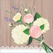 Rustic Wedding Beverage Napkins 192 ct
