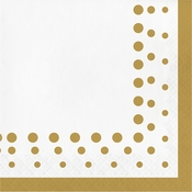 Sparkle and Shine Gold Luncheon Napkins