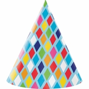 Bright Birthday Party Hats 48 ct