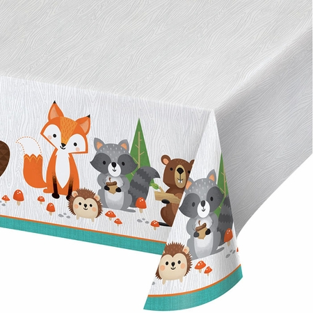 Wild One Woodland Plastic Tablecloths 6 ct
