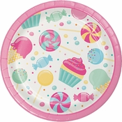 Candy Bouquet Dessert Plates 96 ct