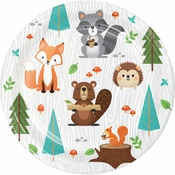Wild One Woodland Animals Dessert Plates 96 ct