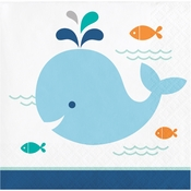 Blue Baby Whale Beverage Napkins 192 ct