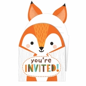 Wild One Woodland Invitations 48 ct