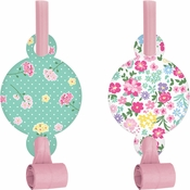Floral Tea Party Party Blowers 48 ct