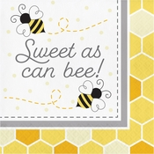 Bumblebee Baby Shower Sweet As Can Be Luncheon Napkins 192 ct