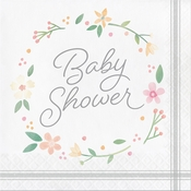 Country Floral Baby Shower Luncheon Napkins 192 ct