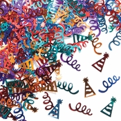Streamers and Hats Confetti 12 ct