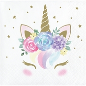 Unicorn Baby Shower Beverage Napkins 192 ct