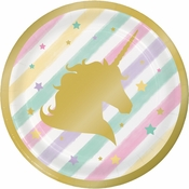Sparkle Unicorn Dessert Plates 96 ct