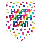 Rainbow Foil Happy Birthday Door Signs 12 ct