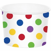Multicolor Dot Treat Cups 72 ct