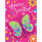 Butterfly Invitations 48 ct
