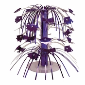 Graduation Mortarboard Cascade Centerpieces Purple
