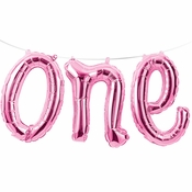 1st Birthday Girl One Balloons Banners 12 ct