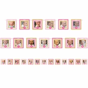 1st Birthday Girl Photo Banners 12 ct