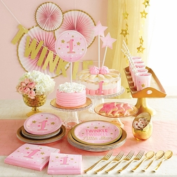 One Little Star Girl Party Supplies