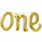 1st Birthday One Balloons Banners 12 ct