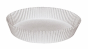 """Brooklace� dry waxed paper White Fluted 10.75"""" Round Cake Liners is sold in bulk quantities of 250 / pkg, 4 pkgs / case"""