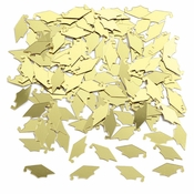 Gold Mortarboard Graduation Confetti 12 ct