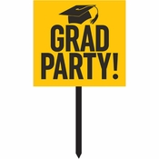 Yellow Graduation Yard Signs 6 ct