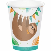 Sloth Party 9 oz Paper Cups 96 ct