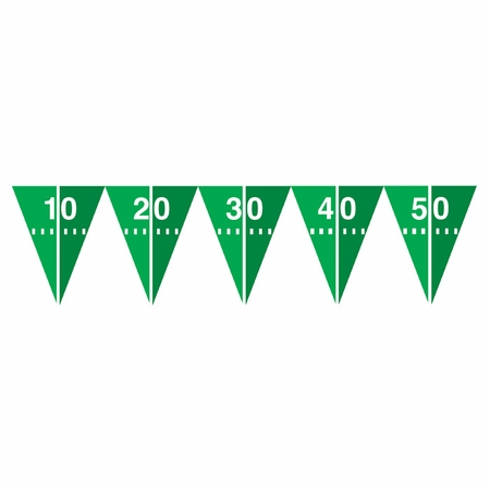 Football Field Flag Banners 12 ct