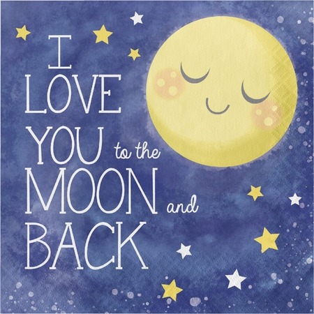 To the Moon and Back Luncheon Napkins 192 ct