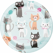 Cat Party Dessert Plates 96 ct