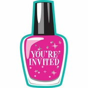 Sparkle Spa Party Invitations 48 ct