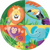 Jungle Safari Dessert Plates 96 ct