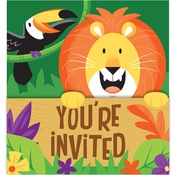 Jungle Safari Invitations 48 ct
