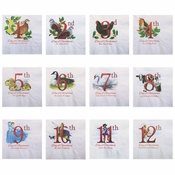 "5"" 12 Days of Christmas Beverage Napkins 1000 ct"