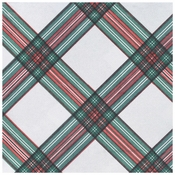 "15.5"" x 15.5"" FashnPoint Christmas Plaid Dinner Napkins Flat Pack 800 ct"