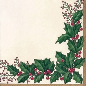 Winter Holly Beverage Napkins 432 ct