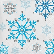 Snowflake Swirls Beverage Napkins 192 ct