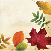 Colorful Leaves Beverage Napkins 192 ct