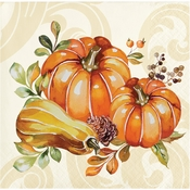 Autumn Wreath Beverage Napkins 192 ct