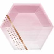 Rose All Day Stripes Dinner Plates 96 ct