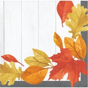 Falling Leaves Beverage Napkins 192 ct